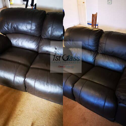 professional leather cleaning, Groby road, Leicester (52.649860, -1.167130) 52° 38' 59.496'' N 1° 10' 1.668'' W