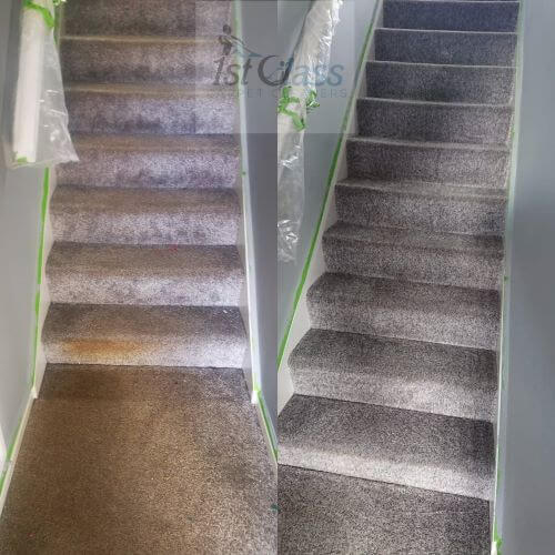bringing the stairs back to life in Ashby-de-la-zouch Carpet Cleaning Ashby-de-la-zouch  52.752855150635874 -1.475252366934201